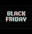 black friday promo typography design shop banner vector image
