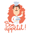 Bon appetit vector image