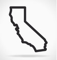 california ca state map outline simplified vector image vector image