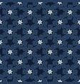 christmas indigo blue winter floral seamless vector image