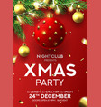 christmas party flyer invitation vector image vector image