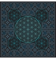 circle flower of life fractal sacred geometry vector image