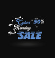 cyber monday white and blue sale banner vector image vector image