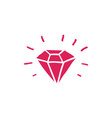 diamond doodle icon vector image