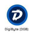 digibyte dgb crypto coin i vector image