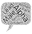 Do Women Like Alpha Males text background vector image vector image