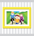 Family Play1 Photo vector image vector image