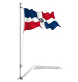 Flag Pole Dominican Republic vector image vector image