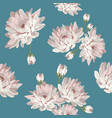 floral seamless pattern with chrysanthemums vector image