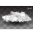 Fluffy white clouds Realistic design elements vector image vector image