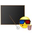 Funny student around blackboard vector image vector image