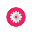 gear cogwheel - concept colored icon in flat graph vector image vector image