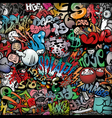 graffiti on wall streetart background vector image vector image