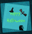Halloween poster bright banner greeting card in vector image vector image