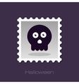 halloween skull stamp vector image vector image