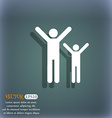 happy family icon symbol on the blue-green vector image vector image