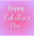 happy valentines day on pink vector image