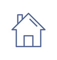 home web page icon in line art style simple house vector image