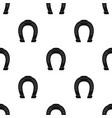 horseshoe icon in black style isolated on white vector image