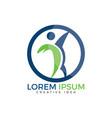 human health and medical logo design vector image vector image