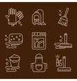 Icons Cleaning vector image
