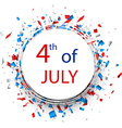 Independence Day round background vector image
