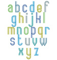 Inner Echo striped retro 70s style font vector image vector image