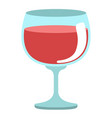 isolated wine glass vector image