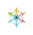 logo airplane star transportation travel holiday vector image