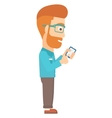 Man using mobile phone vector image vector image