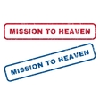 Mission To Heaven Rubber Stamps vector image vector image