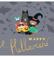Monster friends kids guising trick or treat vector image vector image