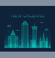 new orleans usa skyline line art style vector image vector image