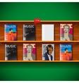 Online magazines vector image