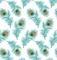 Peacock seamless pattern vector image