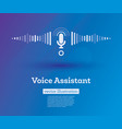 personal voice assistant sign on blue background vector image