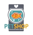 Pet shop with fish vector image