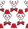 pioneer ussr boy in red cap and neckerchief vector image vector image