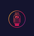 pos terminal completed payment icon vector image vector image