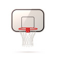 realistic basketball board basket and hoop vector image vector image