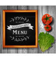restaurant menu board restaurant menu bulletin vector image vector image