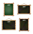 Restaurant menu boards set isolated on white