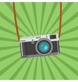 Retro Photo camera icon Flat design vector image vector image