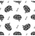 Seamless pattern with brain vector image
