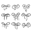 Set of bow vector image vector image