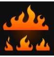 Set of fire elements vector image vector image