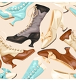Shoes and boots seamless vector image vector image