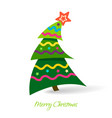 simple christmas tree design elements vector image