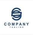 simple sio so initials company logo vector image vector image