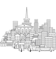 small town a few streets vector image vector image